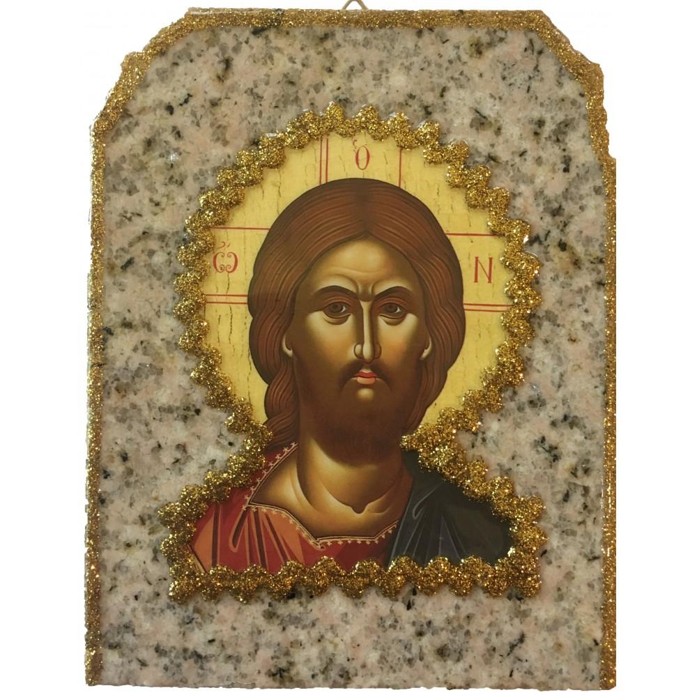 ΧΡΙΣΤΟΣ Ο ΩΝ ΕΙΚΟΝΑ ΣΕ ΓΡΑΝΙΤΗ, 20 Χ 15